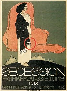 Franz Wacik: Plakat zur Frühjahrsausstellung der Wiener Secession
