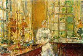 Frederick Childe Hassam: Mrs. Holley aus Cos Cob, Connecticut