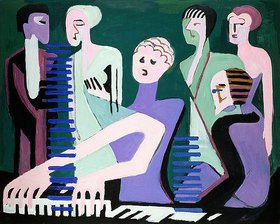 Ernst Ludwig Kirchner: Sängerin am Piano (Pianistin)