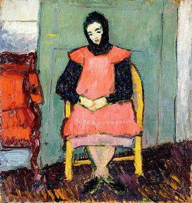 Alexej von Jawlensky: Mädchen in gelbem Stuhl
