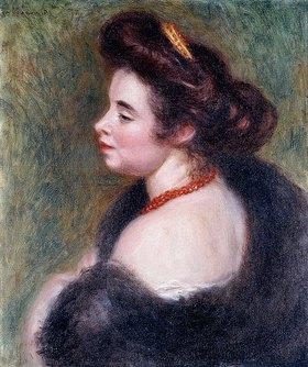 Auguste Renoir: Madame Maurice Denis. 1904 (Die Porträtierte, geb. Marthe Meurier (1870-1919) war die Ehefrau von Maurice Denis.)