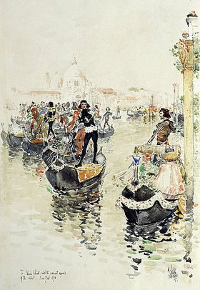 Frederick Childe Hassam: Eine venezianische Regatta