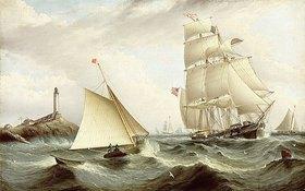 James Edward Buttersworth: Den Lotsen an Bord holen, Isle of Shoals, New Hampshire