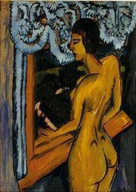Ernst Ludwig Kirchner: Brauner Akt am Fenster