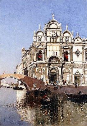 Martin Rico y Ortega: Scuola Grandi di San Marco und Campo San Giovanni e Paolo, Venedig