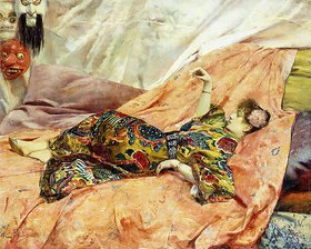 Georges Rochegrosse: Porträt von Sarah Bernhardt in einem chinesischen Interieur