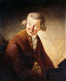 Johann Heinrich Füssli: Porträt eines Herren, identifiziert als Franz Joseph Haydn am Klavier