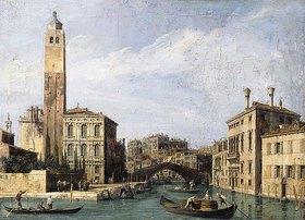 Canaletto (Giovanni Antonio Canal): Der Canal Grande mit San Geremia, dem Palazzo Labia und dem Eingang zum Stadtteil Cannaregio