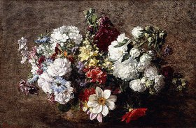 Henri de Fantin-Latour: Gemischter Strauß, Gartenblumen (Bouquet Mêle, Les Fleurs du Jardin)