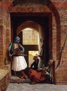 Jean-Léon Gérome: Albanische Leibwächter in Kairo (Corps de garde d'arnautes au Caire)