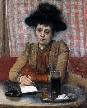 Pierre Carrier-Belleuse: Im Café