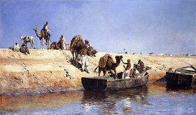 Edwin Lord Weeks: Das Verladen von Kamelen am Strand von Salé, Marokko