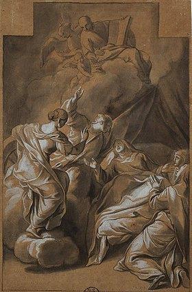 Andrea Pozzo: Der Heilige Ignatius erscheint einer Nonne