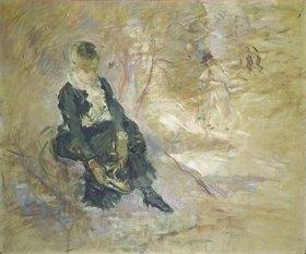 Berthe Morisot: Junge Frau beim Schlittschuhanziehen