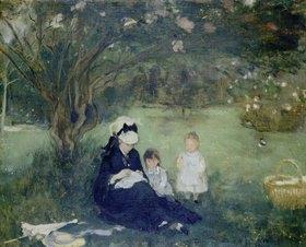 Berthe Morisot: Unter Flieder in Maurecourt