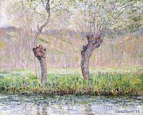 Claude Monet: Frühling, Weidenbäume (Printemps, saules)