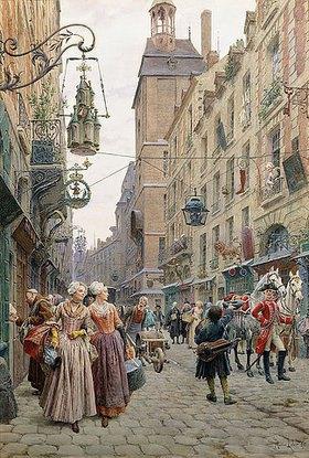 Maurice Leloir: Eine belebte Straße (Une Rue Animée)