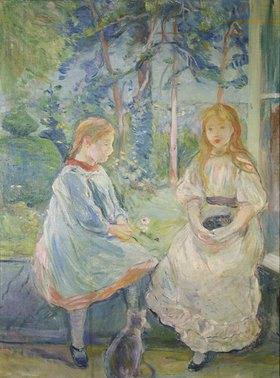 Berthe Morisot: Kleine Mädchen vor dem Fenster