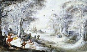 Gysbrecht Lytens: Eine Winterlandschaft mit dem Bethlehemitischen Kindermord
