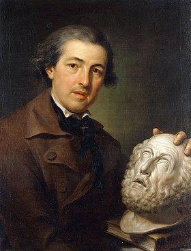 Anton Raphael Mengs: Porträt von Giuseppe Franchi mit einer Büste von Homer