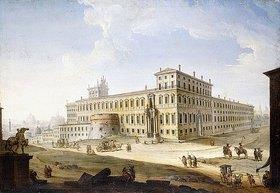 Antonio Joli: Die Piazza del Quirinale, mit der Engelsburg und dem Petersdom im Hintergrund