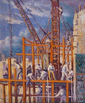 Maximilien Luce: Eine Baustelle in Paris, Boulevard de la Madeleine