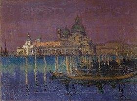 Walter Richard Sickert: Nachtstück: die Dogana und die Santa Maria della Salute, Venedig