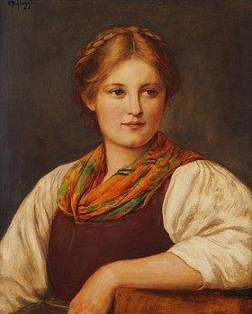 Franz von Defregger: Ein bayerisches Bauernmädchen
