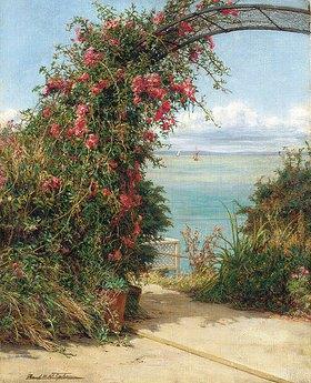 Frank William Warwick Topham: Ein Garten am Meer