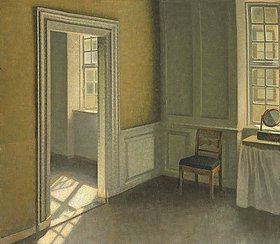 Vilhelm Hammershoi: Bedroom, Strandgade