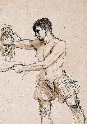 Guercino (Giovanni Francesco Barbieri): Der Henker mit dem Kopf Johannes des Täufers