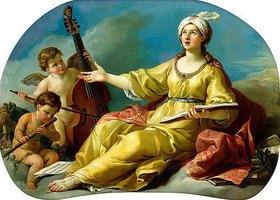 Joseph Marie Vien: Personifikation der Musik mit musizierenden Putten