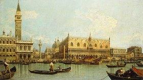 Canaletto (Giovanni Antonio Canal): Der Molo, Venedig, vom Bacino di San Marco aus gesehen