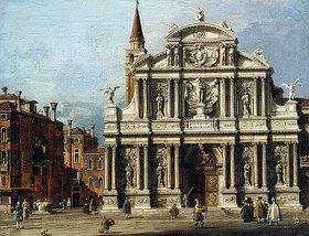 Canaletto (Giovanni Antonio Canal): Die Kirche Santa Maria Zobenigo und der Platz davor, Venedig