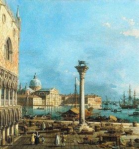 Canaletto (Giovanni Antonio Canal): Die Piazzetta in Venedig mit dem Bacino di San Marco und der Insel San Giorgio Maggiore