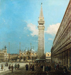 Canaletto (Giovanni Antonio Canal): Die Piazza San Marco in Venedig