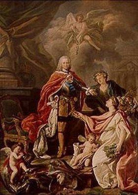 Antonio Gonzalez Ruiz: Ferdinand IV. als Beschützer der Künste und der Wissenschaft