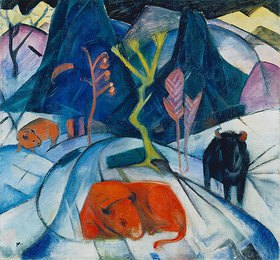 Franz Marc: Bison im Winter (Roter Bison)