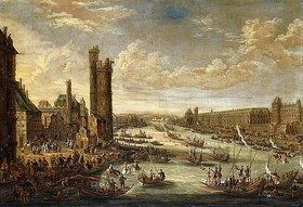 Peeter Bout: Eine Ansicht von Paris mit dem Louvre und dem Tour de Nesle