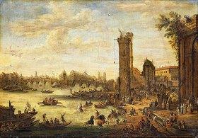 Peeter Bout: Eine Ansicht von Paris mit der Ile de la Cité und der Pont Neuf