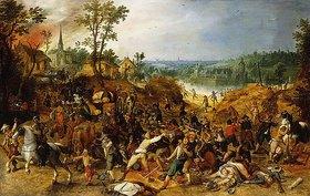 Sebastian Vrancx: Eine Landschaft mit Plünderern, die eine Kutsche überfallen
