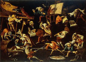 Faustino Bocchi: Kämpfende, trinkende und zechende Fantasietiere und Zwerge