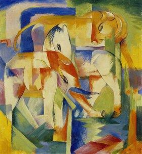 Franz Marc: Elefant, Pferd, Rind