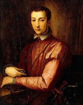 Alessandro (Bronzino) Allori: Francesco I de'Medici (1541-1587) in einem Wams mit Schlitzärmeln