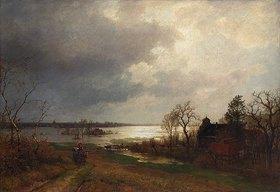 Hermann Pohle: Überschwemmung am Niederrhein. 1879 (?)