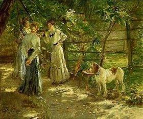 Fritz von Uhde: Die Töchter im Garten