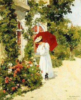 René-Joseph Gilbert: Der rote Sonnenschirm
