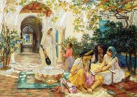 Frederick Arthur Bridgman: In einem Dorf, El Biar, Algerien