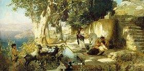 Genrikh Ippolitovich Semiradski: Sonniger Nachmittag an einem Brunnen