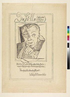 Max Beckmann: Selbstbildnis. Titelblatt der Folge 'Die Hölle'